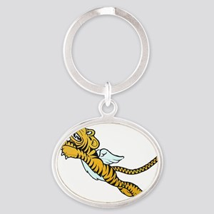 Flying Tiger Oval Keychain