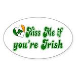 Kiss Me if You're Irish Oval Sticker