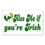 Kiss Me if You're Irish Rectangle Sticker