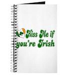 Kiss Me if You're Irish Journal