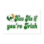 Kiss Me if You're Irish Mini Poster Print