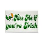 Kiss Me if You're Irish Rectangle Magnet