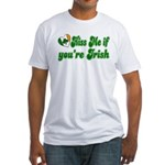Kiss Me if You're Irish Fitted T-Shirt