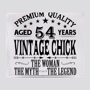 VINTAGE CHICK AGED 54 YEARS Throw Blanket
