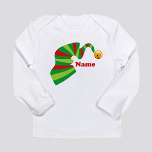 Personalized Elf Hat Long Sleeve Infant T-Shirt