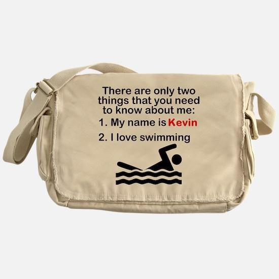 Two Things Swimming Messenger Bag