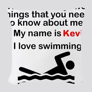 Two Things Swimming Woven Throw Pillow