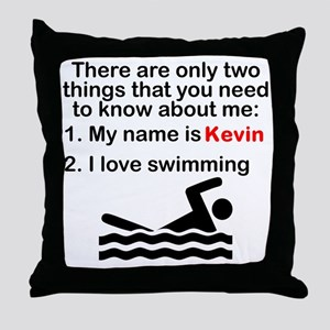 Two Things Swimming Throw Pillow