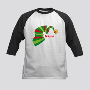 Personalized Elf Hat Kids Baseball Jersey