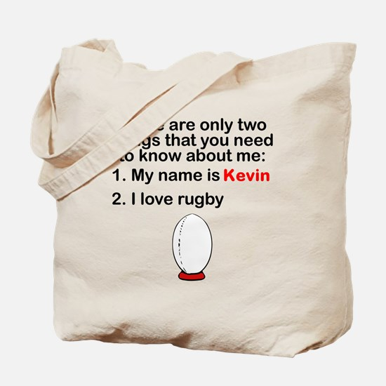Two Things Rugby Tote Bag