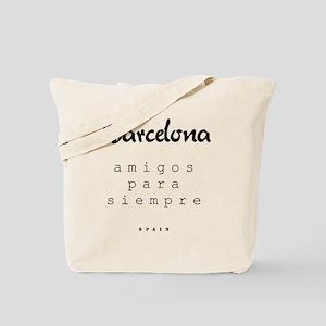 Barcelona_10x10_apparel_Amigos para siemp Tote Bag
