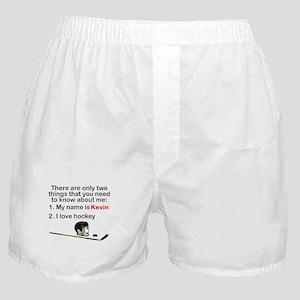 Two Things Hockey Boxer Shorts