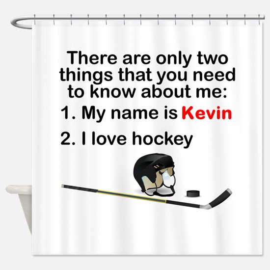Two Things Hockey Shower Curtain
