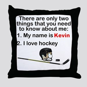 Two Things Hockey Throw Pillow