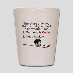 Two Things Hockey Shot Glass