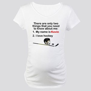 Two Things Hockey Maternity T-Shirt