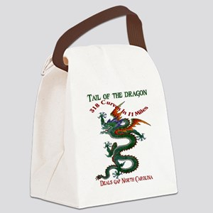 Tail of the Dragon 318 Curves in  Canvas Lunch Bag