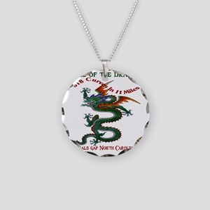 Tail of the Dragon 318 Curve Necklace Circle Charm