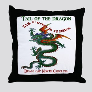 Tail of the Dragon 318 Curves in 11 M Throw Pillow