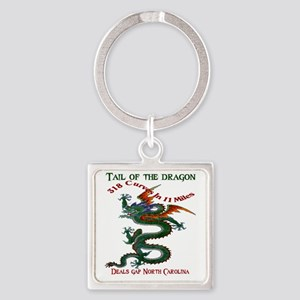 Tail of the Dragon 318 Curves in 1 Square Keychain