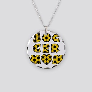 wh black gold, Mom Block Necklace Circle Charm