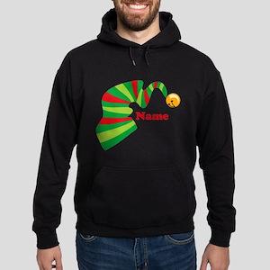 Personalized Elf Hat Hoodie (dark)