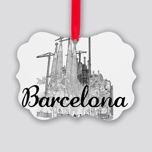 Barcelona_10x8_MessageBag_LaSagra Picture Ornament
