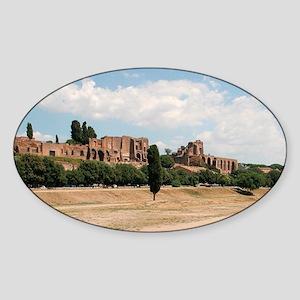 Italy. Rome. Circus Maximus. Built  Sticker (Oval)