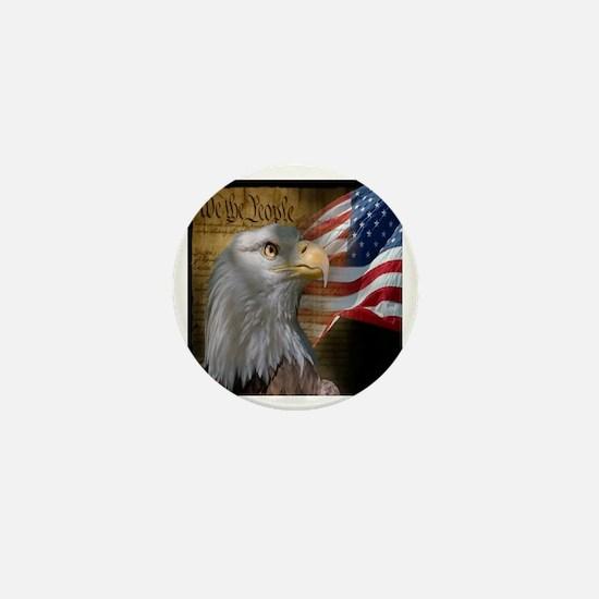 We The People Eagle Flag Mini Button