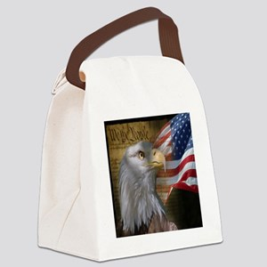 We The People Eagle Flag Canvas Lunch Bag