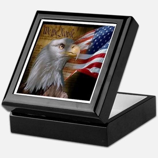 We The People Eagle Flag Keepsake Box