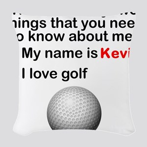 Two Things Golf Woven Throw Pillow
