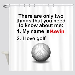Two Things Golf Shower Curtain