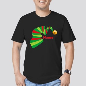 Personalized Elf Hat Men's Fitted T-Shirt (dark)
