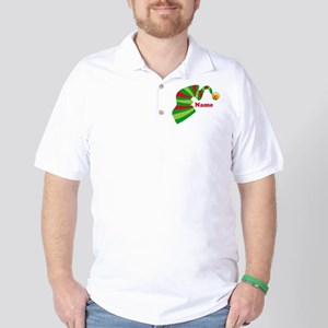 Personalized Elf Hat Golf Shirt