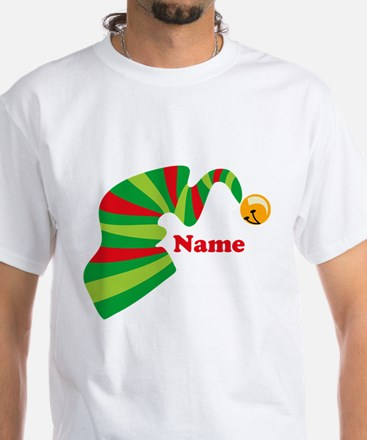 Personalized Elf Hat White T-Shirt
