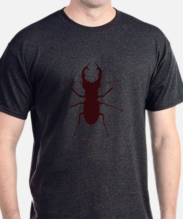 Giant Stag Beetle T-Shirt - Charcoal