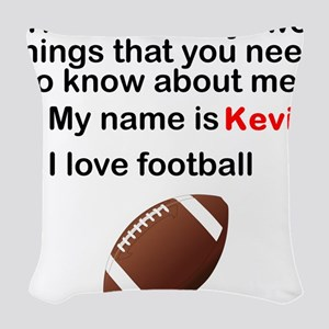 Two Things Football Woven Throw Pillow