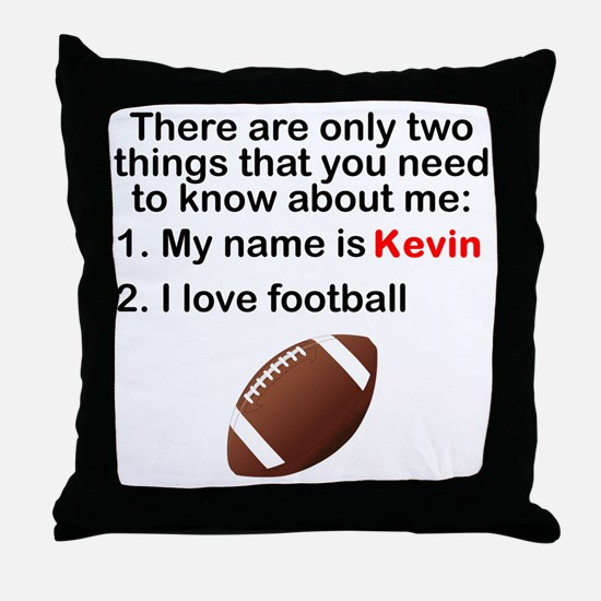 Two Things Football Throw Pillow