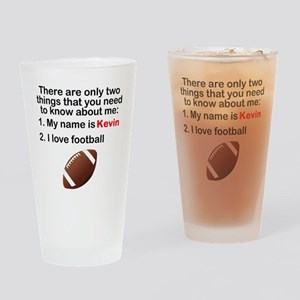 Two Things Football Drinking Glass