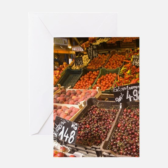 HUNGARY, Budapest. Central Market Ha Greeting Card