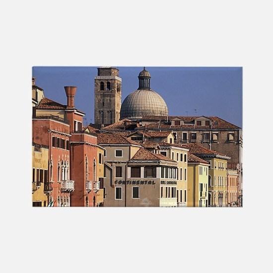 Italy, Veneto, Venice, Canal Gran Rectangle Magnet