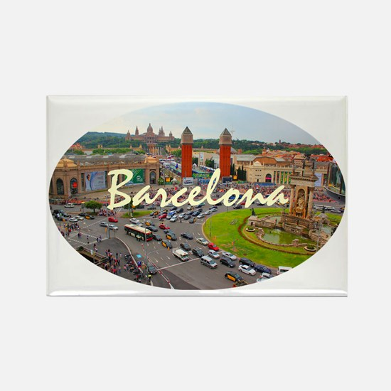 Barcelona_4.58x2.91_tmug_PlazaDeE Rectangle Magnet