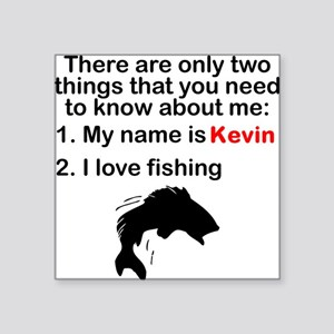 Two Things Fishing Sticker