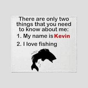 Two Things Fishing Throw Blanket