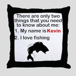 Two Things Fishing Throw Pillow