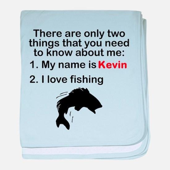Two Things Fishing baby blanket