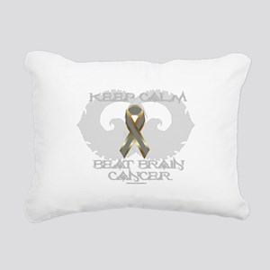 Brain Cancer Calm Rectangular Canvas Pillow