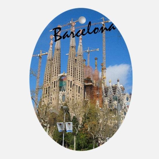 Barcelona_5.5x8.5_Journal_LaSagrdaFa Oval Ornament