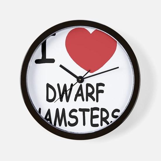 DWARFHAMSTERS Wall Clock